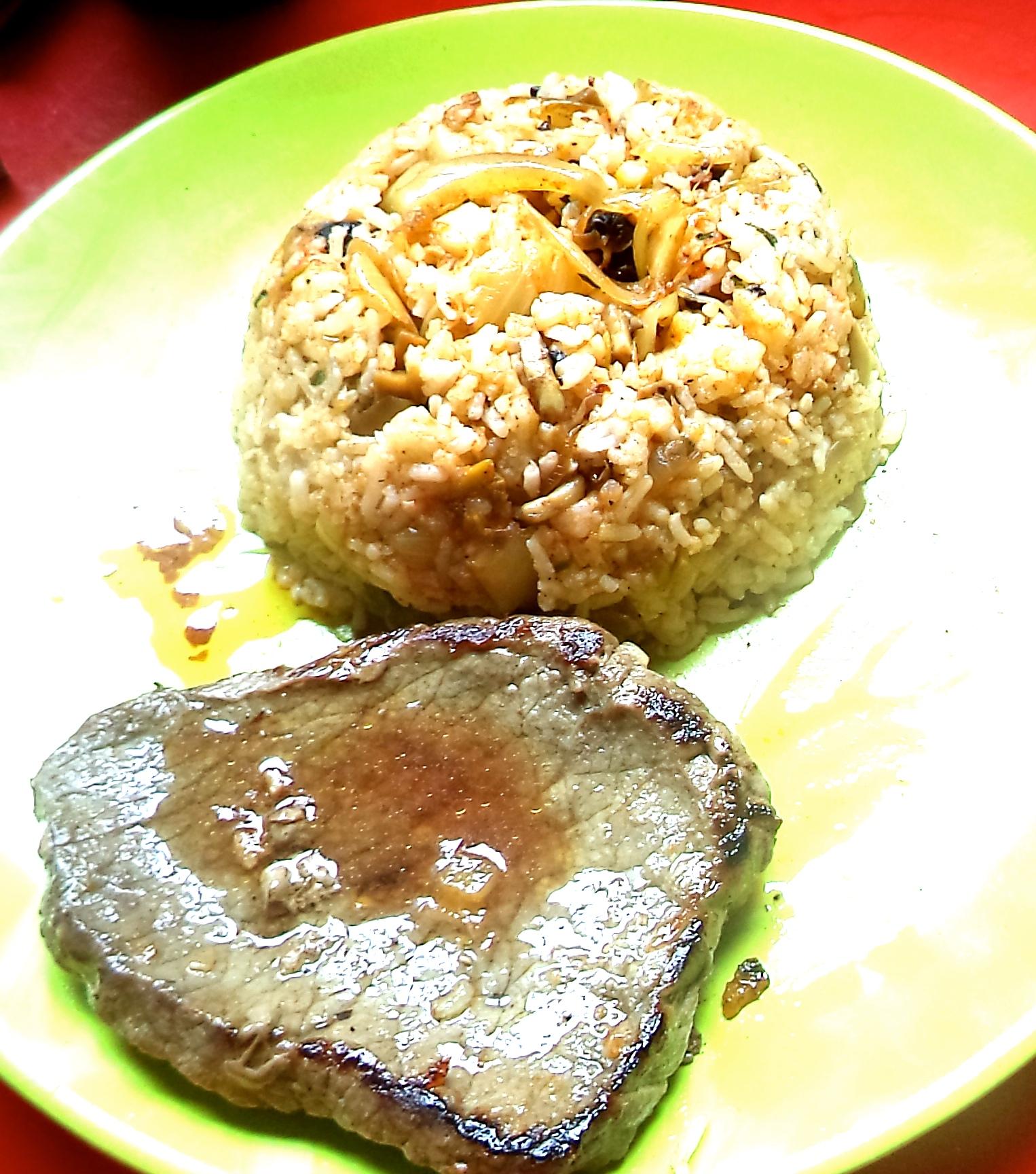 un plat cuisiné facile : riz aux oignons et champignons – le blog